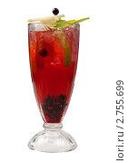 Смородиновый освежающий коктейль. Стоковое фото, фотограф Александр Fanfo / Фотобанк Лори