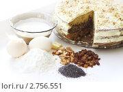 Купить «Домашний торт, продукты», фото № 2756551, снято 29 августа 2011 г. (c) Лилия / Фотобанк Лори