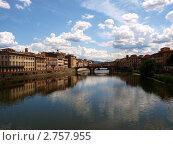 Мост Санта-Тринита во Флоренции (2011 год). Стоковое фото, фотограф Ваганова Марина / Фотобанк Лори