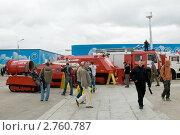 Купить «Выставка пожарной техники на авиасалоне МАКС-2009 в Жуковском», фото № 2760787, снято 21 августа 2009 г. (c) Малышев Андрей / Фотобанк Лори