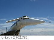 Самолёт Ту-144 на фоне синего неба. Стоковое фото, фотограф Владимир Журавлев / Фотобанк Лори