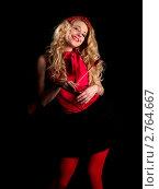 Купить «Блондинка с красным сердцем», фото № 2764667, снято 29 января 2009 г. (c) Антон Глущенко / Фотобанк Лори