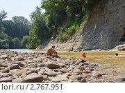 Купить «Купание в горной реке», фото № 2767951, снято 27 июля 2011 г. (c) LenaLeonovich / Фотобанк Лори