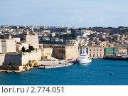 Купить «Форт Витториоза и Гранд-Харбор, Мальта», фото № 2774051, снято 12 декабря 2010 г. (c) Яков Филимонов / Фотобанк Лори