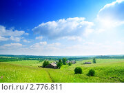Пейзаж с русской деревней. Стоковое фото, фотограф Iakov Kalinin / Фотобанк Лори