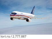 Купить ««Сухой Суперджет 100» (Sukhoi Superjet 100) в небе МАКС 2011», фото № 2777887, снято 1 апреля 2009 г. (c) Igor Lijashkov / Фотобанк Лори