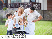 Купить «Счастливая семья на пикнике», фото № 2778239, снято 13 августа 2011 г. (c) Raev Denis / Фотобанк Лори