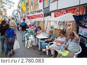 Купить «В лагере сторонников Юлии Тимошенко на Крещатике», фото № 2780083, снято 3 сентября 2011 г. (c) Владимир Горощенко / Фотобанк Лори