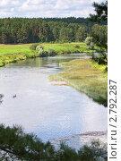 Купить «Река Угра», эксклюзивное фото № 2792287, снято 29 июля 2011 г. (c) Сергей Лаврентьев / Фотобанк Лори