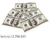 Купить «Доллары на белом фоне», фото № 2796031, снято 16 июня 2011 г. (c) FotograFF / Фотобанк Лори
