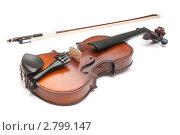 Купить «Скрипка на белом фоне», фото № 2799147, снято 27 февраля 2011 г. (c) Максим Лоскутников / Фотобанк Лори