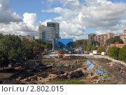 Купить «Калининград. Вид с эстакадного моста. Археологические раскопки», эксклюзивное фото № 2802015, снято 16 сентября 2011 г. (c) Svet / Фотобанк Лори