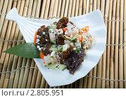Купить «Салат с морепродуктами», фото № 2805951, снято 16 сентября 2011 г. (c) Александр Fanfo / Фотобанк Лори