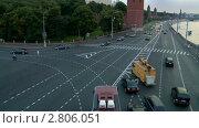 Москва река, Кремль,вид с Большого Каменного моста. Таймлапс (2011 год). Редакционное видео, видеограф Игорь Тирский / Фотобанк Лори