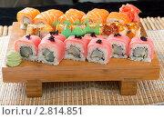 Купить «Японская кухня, набор суши», фото № 2814851, снято 13 сентября 2011 г. (c) Александр Fanfo / Фотобанк Лори