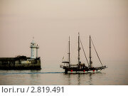 Купить «Закат у побережья Ялты, Крым», фото № 2819491, снято 16 сентября 2011 г. (c) Наталья Белотелова / Фотобанк Лори