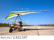 Купить «Мотодельтаплан на взлетной полосе», фото № 2822547, снято 15 августа 2009 г. (c) Dmitry S. Marshavin / Фотобанк Лори