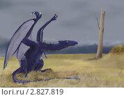 Купить «Черный дракон», иллюстрация № 2827819 (c) Анна Николаева / Фотобанк Лори
