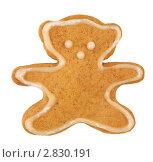 Купить «Имбирное печенье на белом фоне», фото № 2830191, снято 14 сентября 2011 г. (c) Наталья Бидюкова / Фотобанк Лори