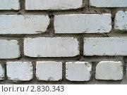 Белая кирпичная стена. Стоковое фото, фотограф Нелинов Сергей / Фотобанк Лори