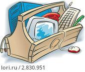 Купить «Ящик с оргтехникой», иллюстрация № 2830951 (c) Антон Гриднев / Фотобанк Лори