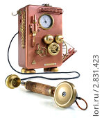 Купить «Телефон в стиле стимпанк со снятой трубкой», фото № 2831423, снято 9 сентября 2011 г. (c) Валерий Александрович / Фотобанк Лори