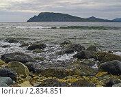Купить «Морской прибой и валуны на переднем плане», фото № 2834851, снято 4 сентября 2010 г. (c) Олег Рубик / Фотобанк Лори