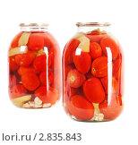 Купить «Консервированные помидоры», фото № 2835843, снято 15 сентября 2011 г. (c) Павел Коновалов / Фотобанк Лори