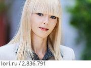 Купить «Портрет красивой блондинки в деловой одежде», фото № 2836791, снято 5 сентября 2011 г. (c) BestPhotoStudio / Фотобанк Лори