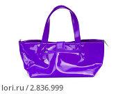 Купить «Фиолетовая яркая женская сумочка», фото № 2836999, снято 28 июня 2010 г. (c) Elnur / Фотобанк Лори