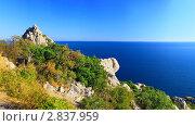 Южная часть Крымского полуострова, морской пейзаж . Украина (2011 год). Стоковое фото, фотограф Vitas / Фотобанк Лори