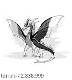 Купить «Рисунок дракона», иллюстрация № 2838999 (c) keanda / Фотобанк Лори