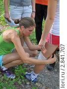 Оказание первой медицинской помощи (2011 год). Редакционное фото, фотограф Free Wind / Фотобанк Лори