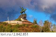 Купить «Памятник Салавату Юлаеву в Уфе — самая большая конная статуя в России», фото № 2842851, снято 20 сентября 2011 г. (c) Рамиль Юсупов / Фотобанк Лори