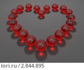 Купить «Сердце из красных стеклянных шариков», иллюстрация № 2844895 (c) Горбунов Владимир / Фотобанк Лори
