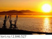 Купить «Порт Находка  на восходе  солнца», фото № 2846527, снято 24 сентября 2011 г. (c) Андрей Пашков / Фотобанк Лори