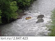 Весенний сплав по бурной реке Белая (2005 год). Редакционное фото, фотограф Natalie Molchanova / Фотобанк Лори