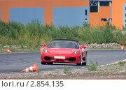 Спортивная машина, участвующая в гонке суперкаров (2011 год). Редакционное фото, фотограф Литвяк Игорь / Фотобанк Лори