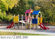 Купить «Детская площадка в осеннем парке», фото № 2855395, снято 8 октября 2011 г. (c) Николай Винокуров / Фотобанк Лори