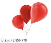 Купить «Воздушные шары на белом фоне», иллюстрация № 2856779 (c) Кирилл Путченко / Фотобанк Лори