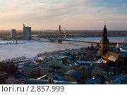 Рига, вид сверху. Редакционное фото, фотограф Aleksandrs Jemeļjanovs / Фотобанк Лори