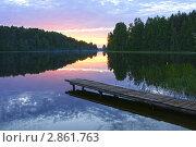 Купить «Закат на озере Ельчинское», фото № 2861763, снято 12 июня 2011 г. (c) Охотникова Екатерина *Фототуристы* / Фотобанк Лори