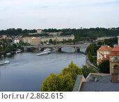 Вид города Прага с высоты (2008 год). Стоковое фото, фотограф Надежда Яблонская / Фотобанк Лори