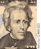Портрет Эндрю Джексона на банкноте достоинством 20 долларов (2009 год). Стоковое фото, фотограф Georgios Kollidas / Фотобанк Лори