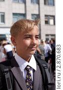 Мальчик, 1 сентября в школе. Стоковое фото, фотограф Шарипова Лилия / Фотобанк Лори