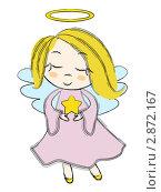 Купить «Рождественский ангелочек со звездой», иллюстрация № 2872167 (c) Евгения Малахова / Фотобанк Лори