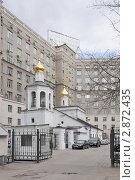 Купить «Церковь Михаила Архангела в Овчинниках. Москва», эксклюзивное фото № 2872435, снято 16 апреля 2011 г. (c) stargal / Фотобанк Лори