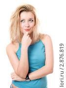 Купить «Портрет блондинки», фото № 2876819, снято 6 января 2010 г. (c) Сергей Сухоруков / Фотобанк Лори