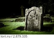 Купить «Древний могильный камень», фото № 2879335, снято 24 сентября 2011 г. (c) Анна Кучерова / Фотобанк Лори