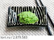 Купить «Японская паста вассаби», фото № 2879583, снято 22 февраля 2011 г. (c) ElenArt / Фотобанк Лори